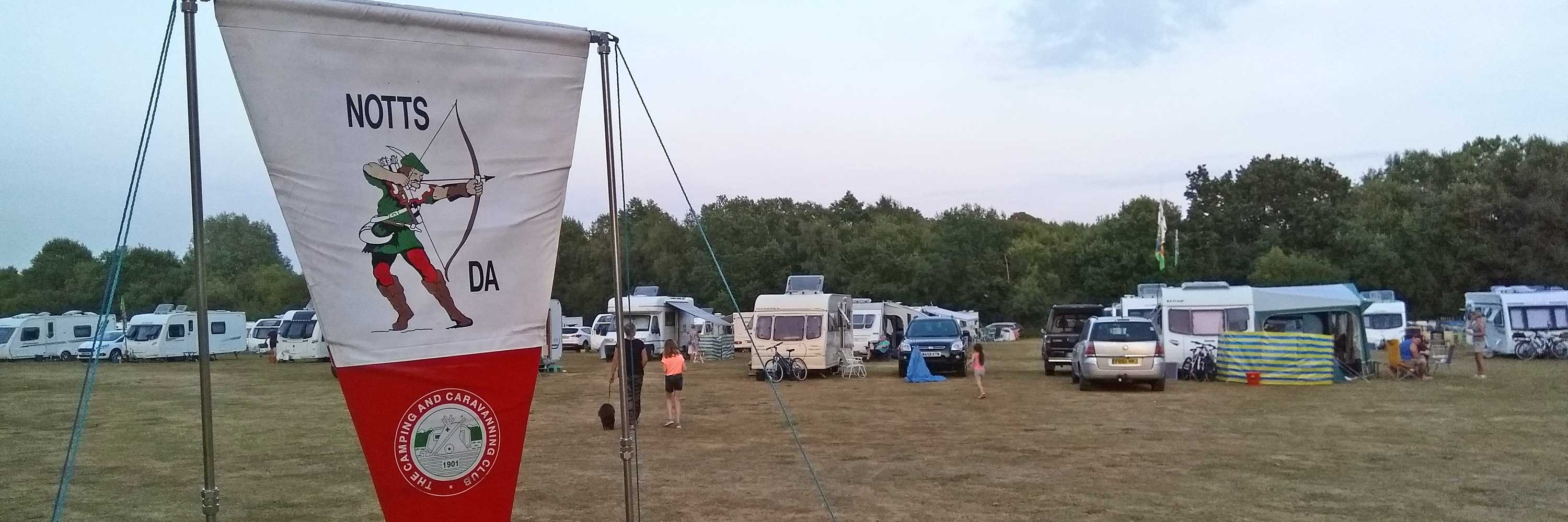 Notts DA caravan and camping weekends in Nottinghamshire